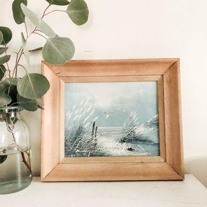 Other - Framed beach scene painting
